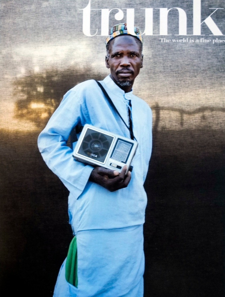 Trunk Magazine - Cover shot  Image © Jason Florio - 'Silafando' portrait of Gambian village chief, West Africa