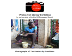 BIG thanks to the US Emabssy, Banjul, for partnering with Photos Tell Stories