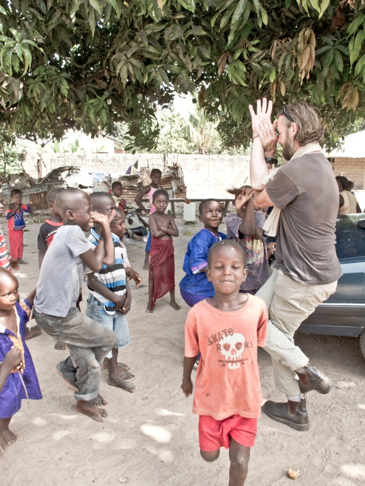 There is always time to interact with the kids - Kembujeh village, The Gambia
