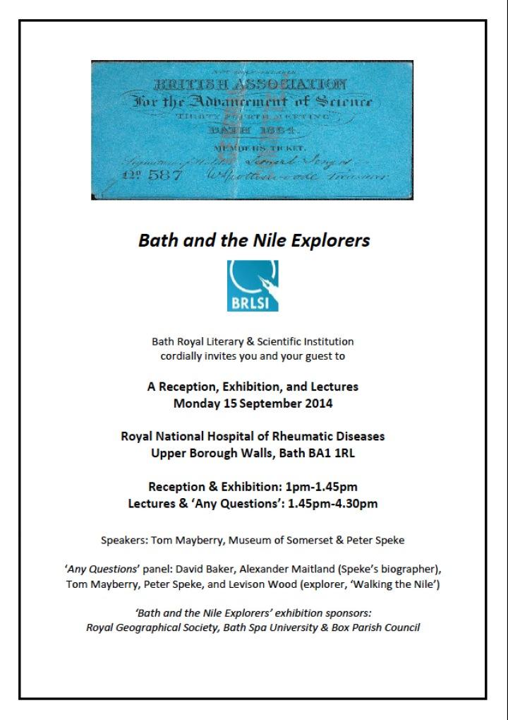 EXPLORERS INVITE, BATH