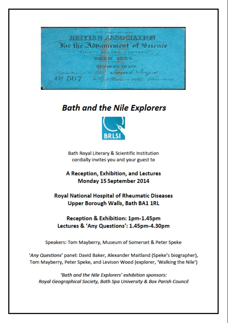 EXPLORERS INVITE, BATH