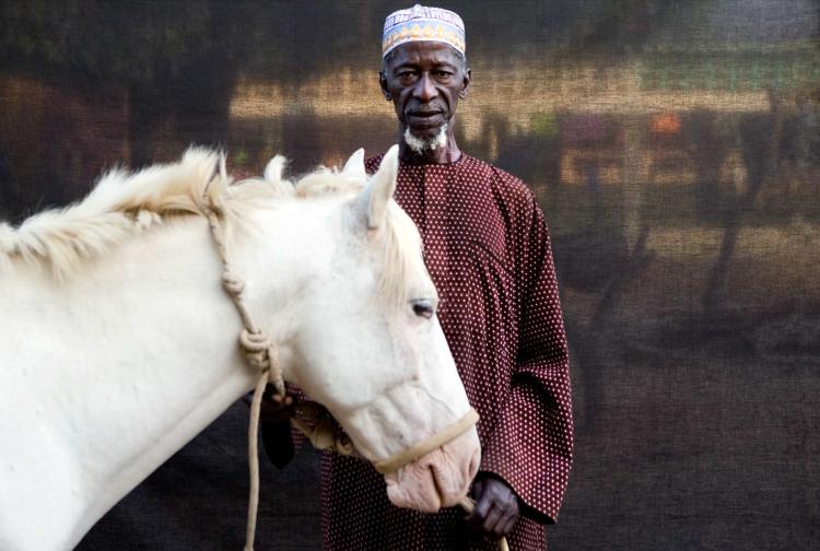 'Silfando' Village chief, Herouna Tunkara and his horse ©Jason Florio