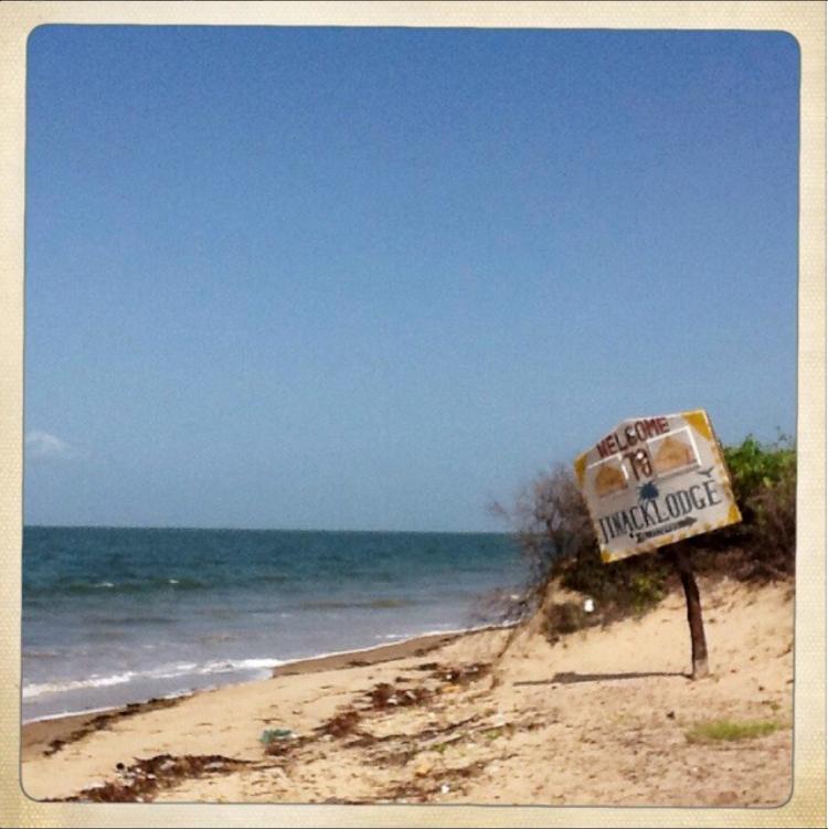 Jinack lodge sign sea