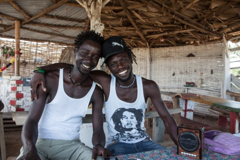 Smile Gambia Beach Bar at Ghana Town fishing village