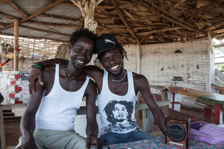Smile Gambia Beach Bar at Ghana Town fishing village