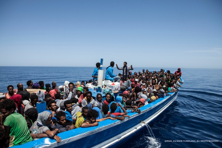 369 migrants rescued by MOAS after being spotted by the Schielble Camera Copter