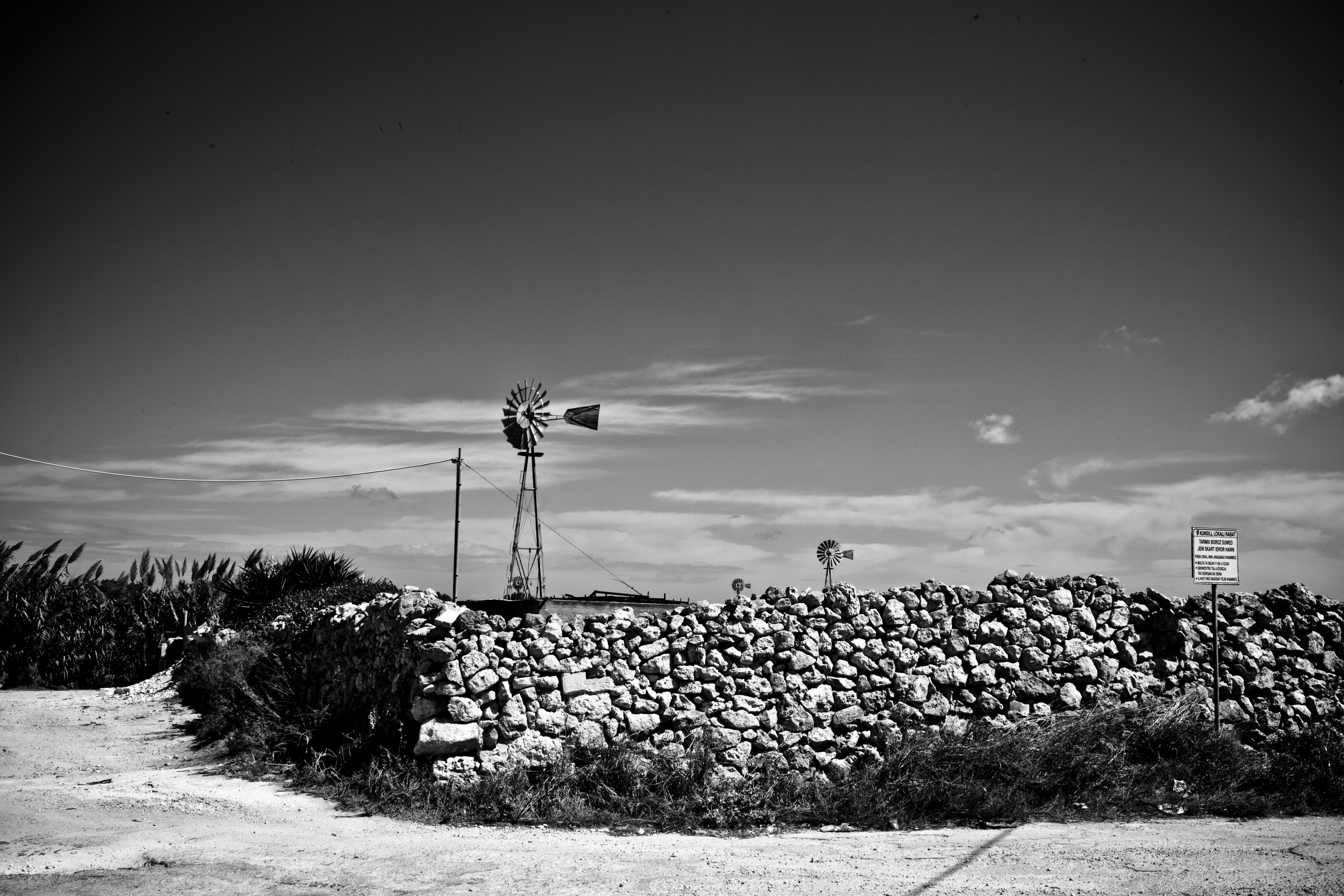 Are we in Texas? Wind turbine, Malta © Helen Jones-Florio
