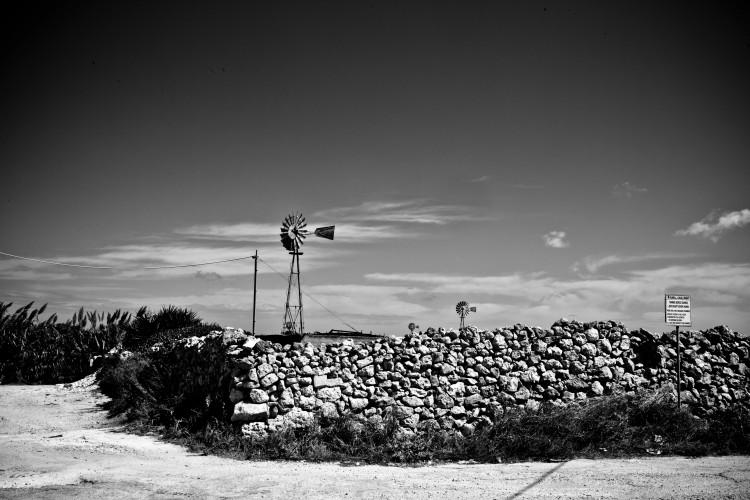 Are we in Texas? Wind turbine, Malta © Helen Jones-Florio