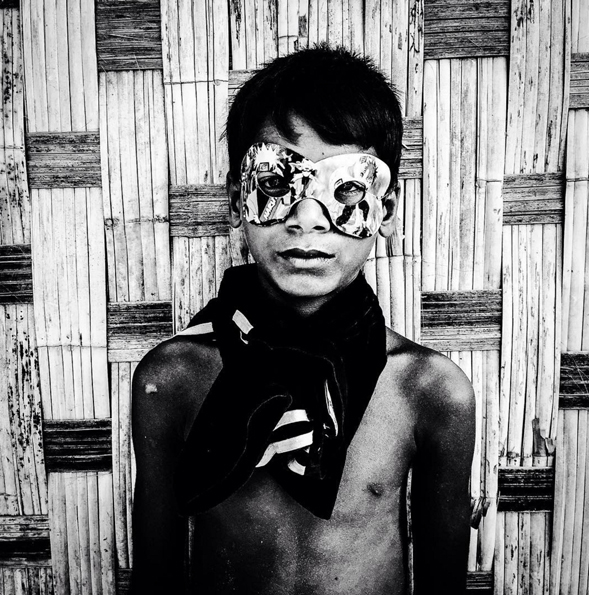 10x10 Photography Prints - Boy in Mask, Burma ©Jason Florio