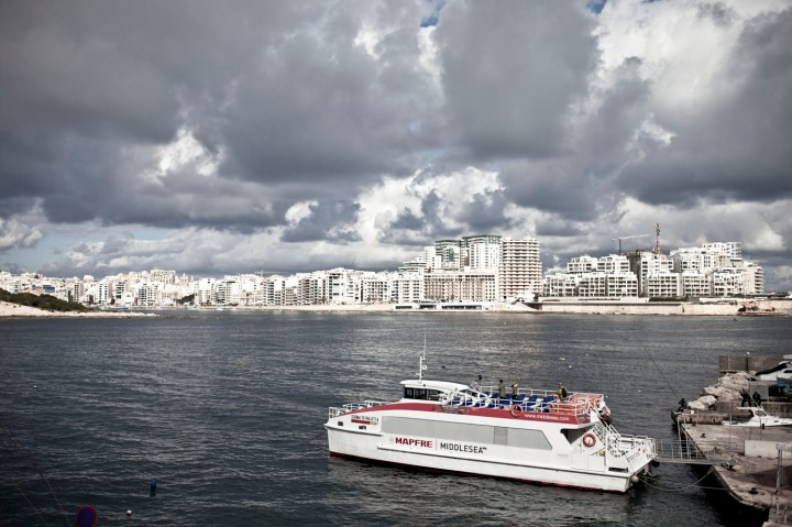 Stormy skies over Sliema, and the Valletta/Sliema Ferry, Malta © Helen Jones-Florio