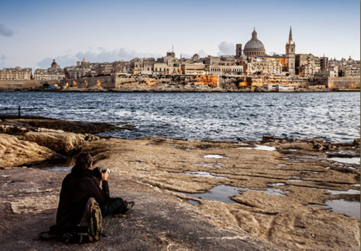 Valletta, as seen from Sliema, across the creek. Image © Helen Jones-Florio for Morning Calm