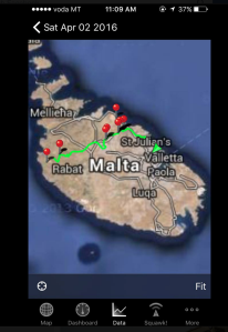 GPS Map - Victoria Lines, Malta