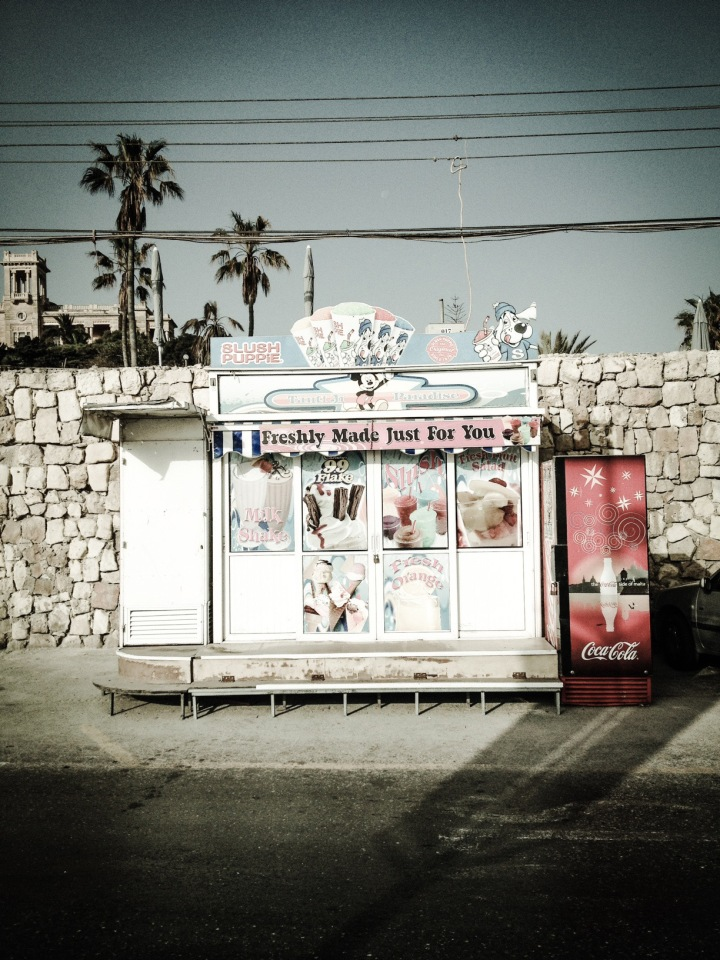ICE CREAM KIOSK, PEMBROKE, MALTA © HELEN JONES-FLORIO