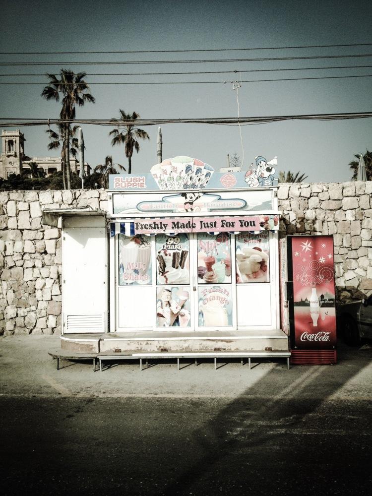 ICE CREAM KIOSK, PEMBROKE, MALTA © HELEN JONES-FLORIO