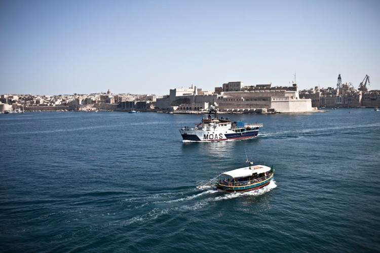 The Phoenix Heads out of Grand Harbour, Malta © Helen Jones-Florio