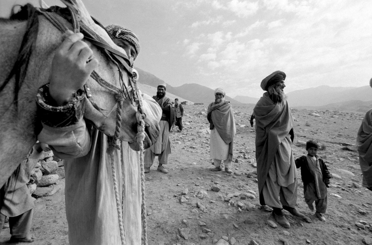 Nomad with his Horse, Afghanistan © Jason Florio - black and white fine art photography prints available online from the HJF Gallery