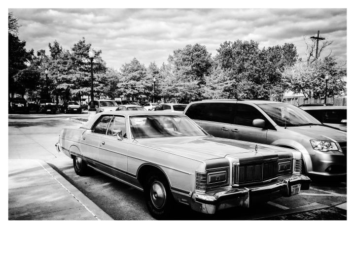 Mercury Grand Marquis, vintage car, Dallas TX ©Helen Jones-Florio