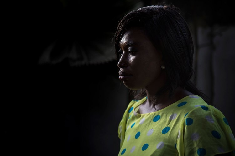 Mariama Saine - one of the last Gambian's to be arrested and tortured under Jammeh's regime, The Gambia, West Africa - portrait © Jason Florio