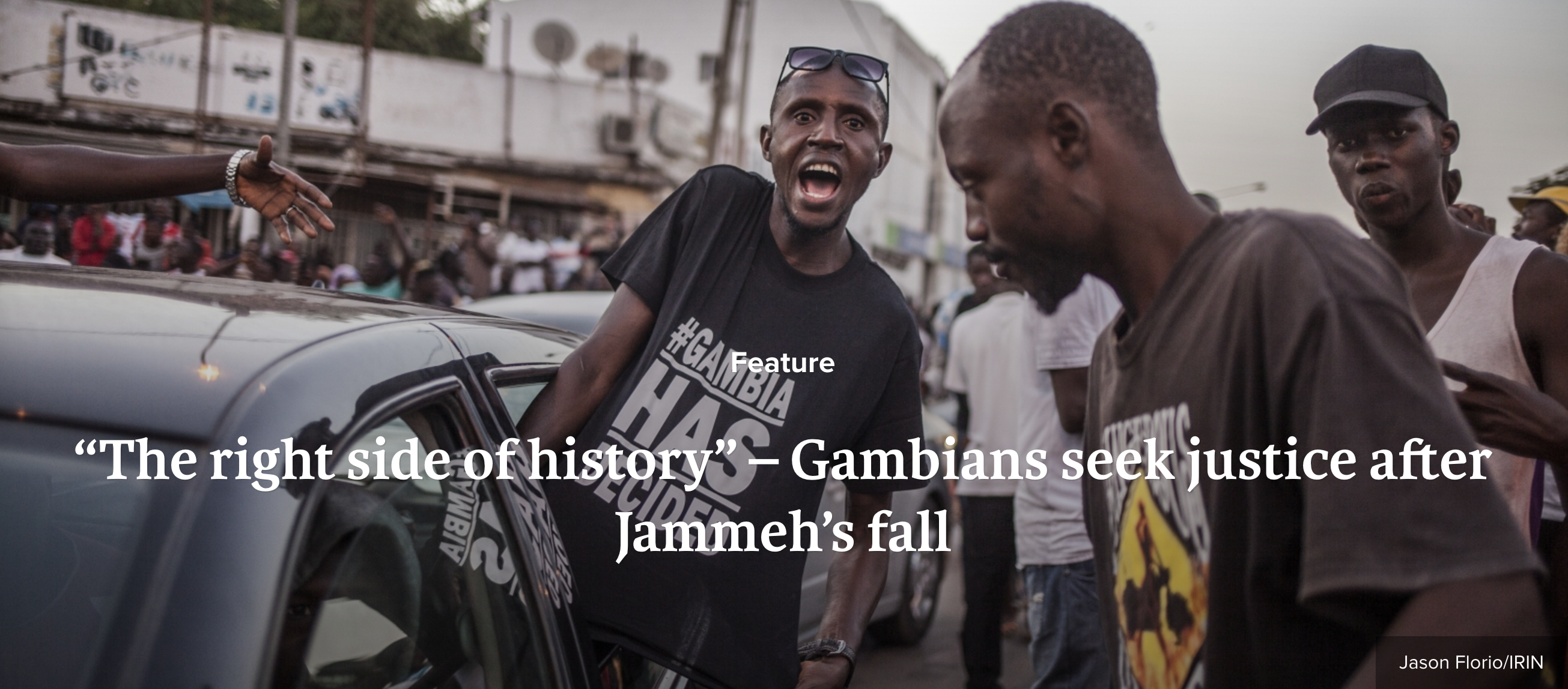 IRIN NEWS - tortured under Jammeh's rule, Gambian's seek justice - image © Jason Florio