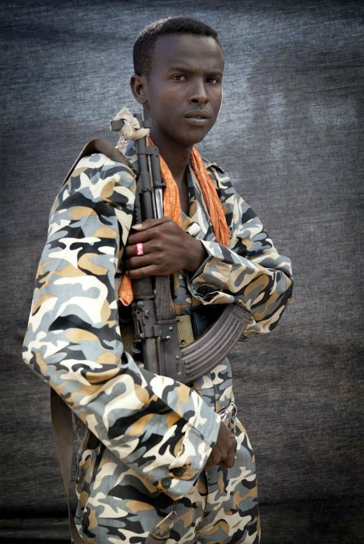 Blackout Portraits 'Soldier TFG' - Mogadishu © Jason Florio