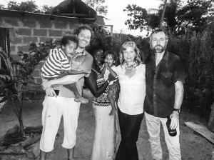 With Simon, Khady, Gulliver & Alfie, at the Little Baobab, Abene, Casamance, Senegal