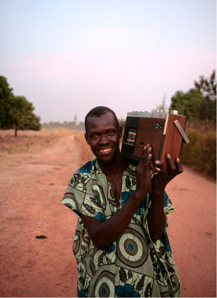 MAN WITH RADIO GAMBIA