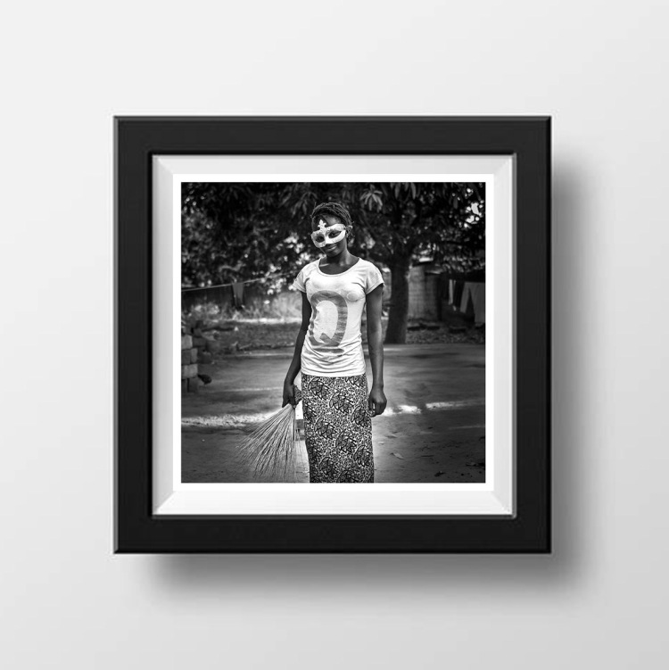 10x10 Instagram Prints Shop - 'Mask Girl 2' ©Jason Florio