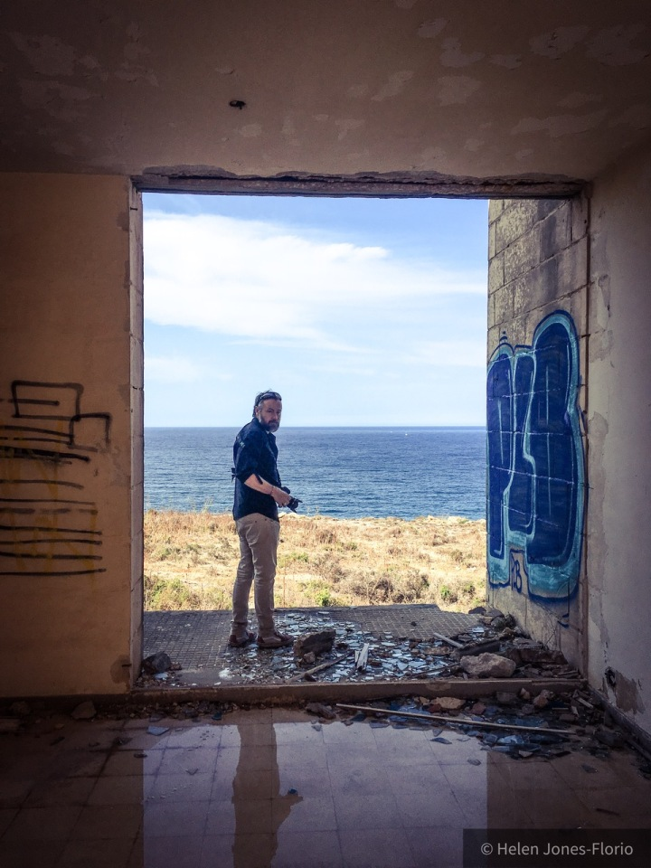 Jason Florio, photographer, and the Mediterranean Sea, Malta ©Helen Jones-