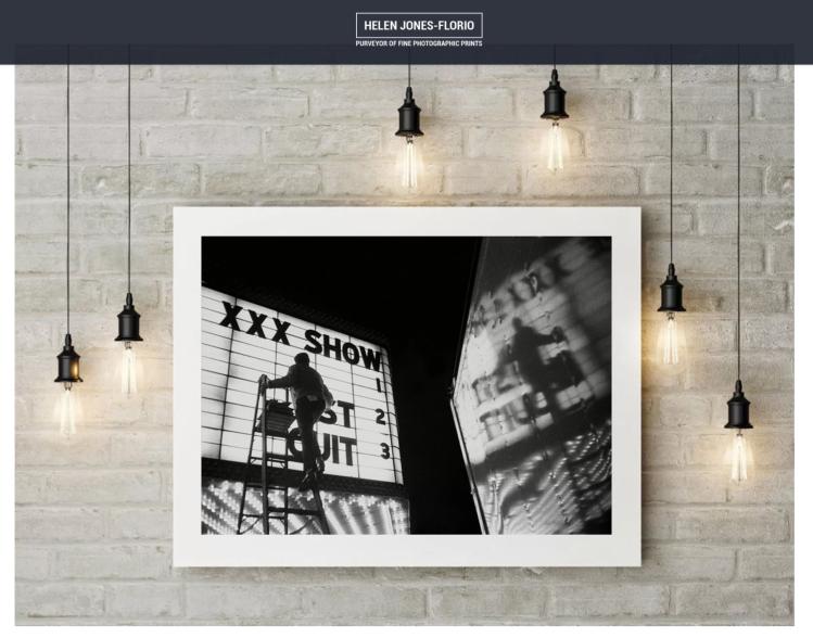 Helen Jones-Florio Online Gallery - Black and white print 'XXX Show' by Robert Goldstein