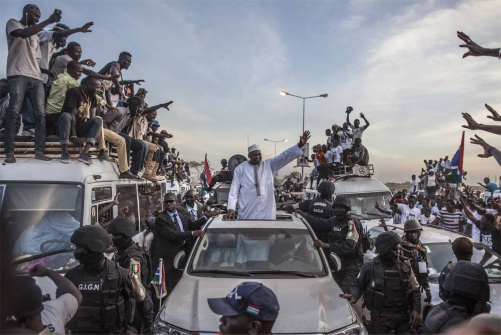 IRIN NEWS - The Gambia's new president, Adama Barrow, received a hero's welcome when he returned to Banjul after his makeshift inauguration in neighbouring Senegal at the end of January. Image ©Jason Florio