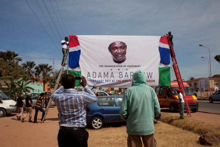 Inauguration banners for President Adama Barrow - image ©Helen Jones-Florio , 2017. — with Andrew Renneisen and Jason Florio.