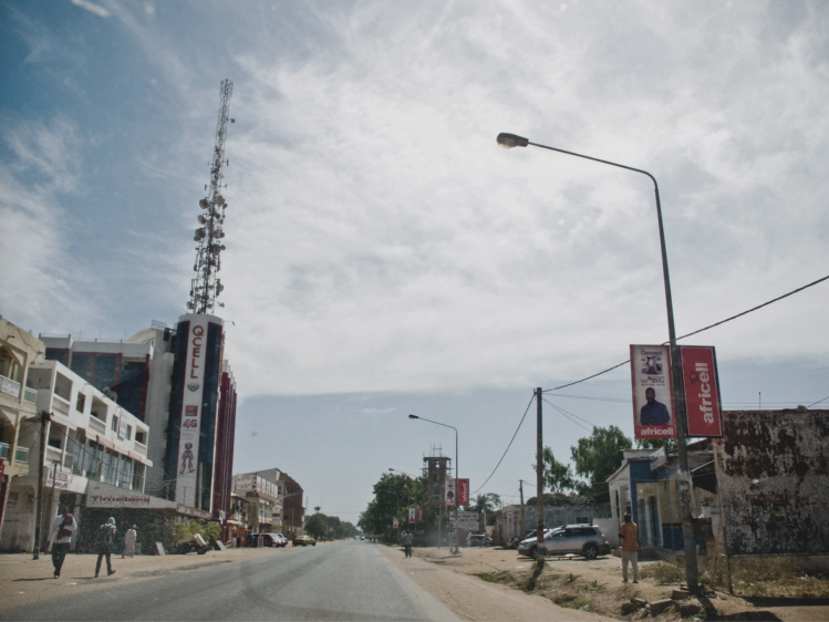 Quiet on the streets of Banjul, The Gambia, after failed coup attempt - image © Helen Jones-Florio