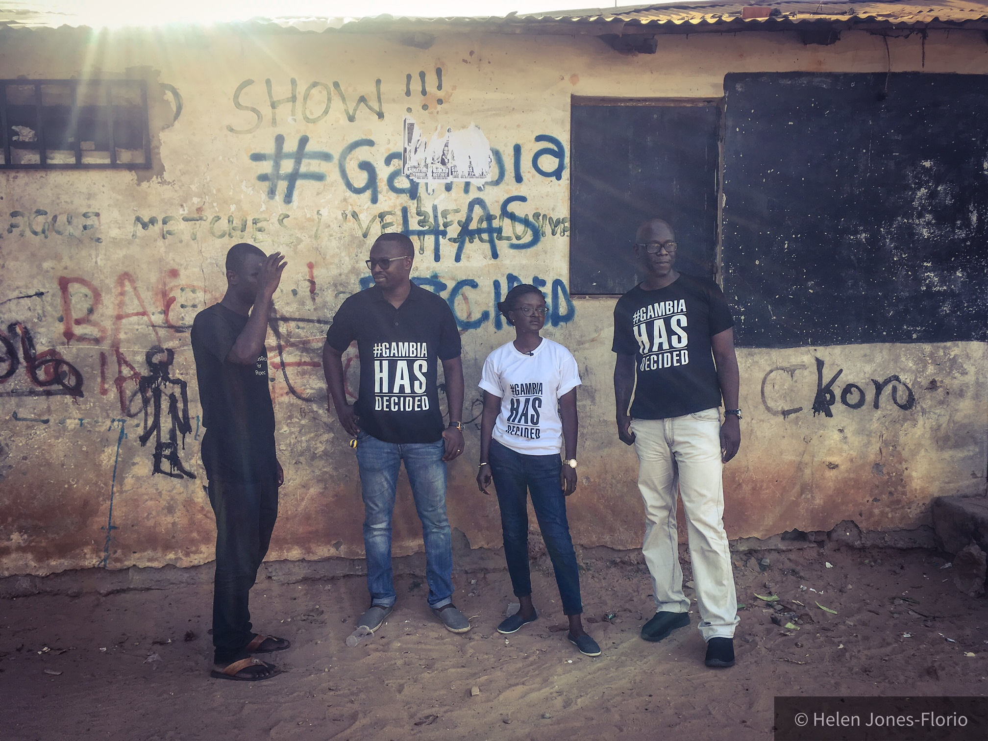 The facilitators of the #GambiaHasDecided campaign ©Helen Jones-Florio