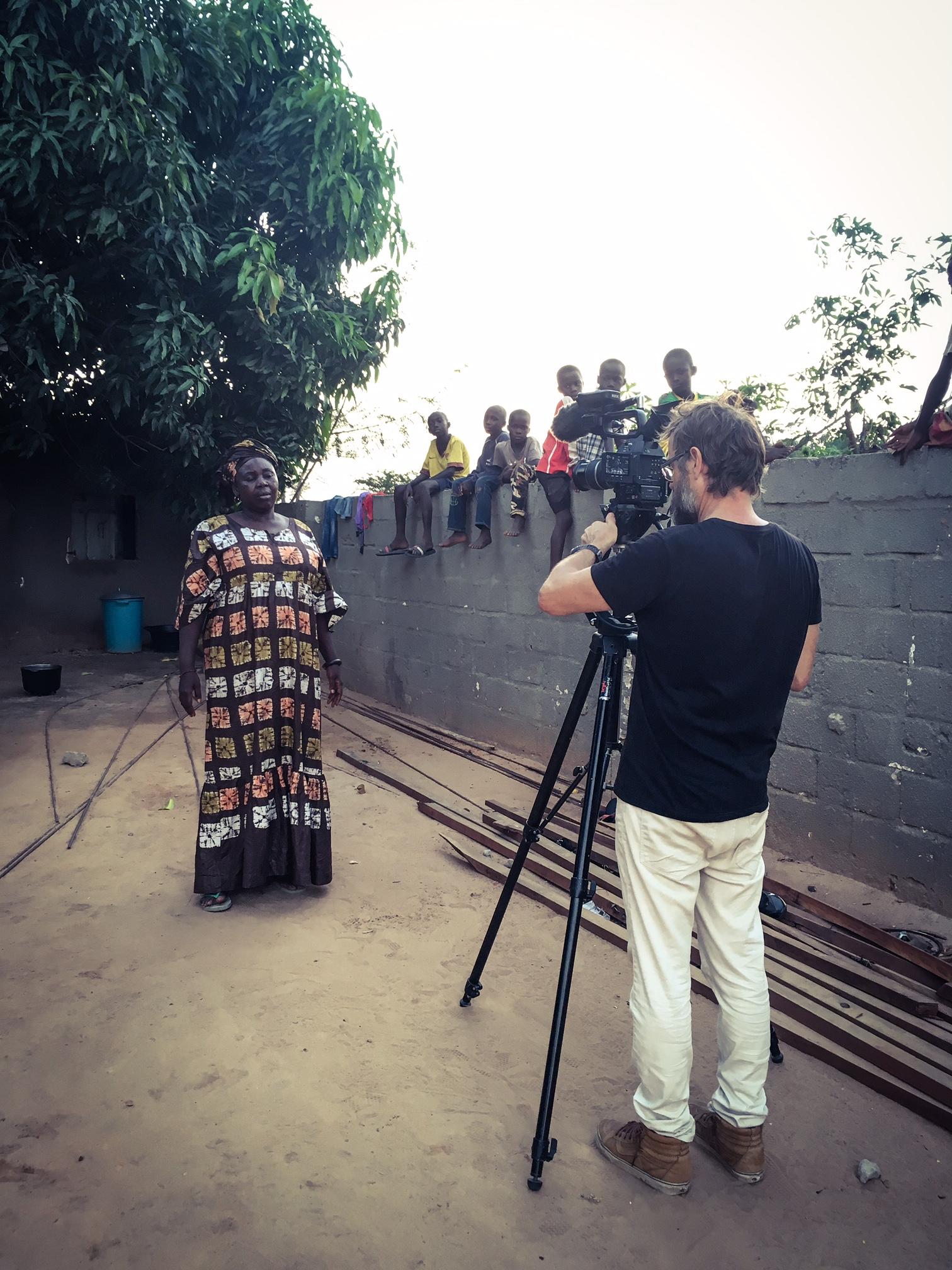 Jugana, one of the victims of Jammeh's torturous regime, being filmed by Jason Florio ©Helen Jones-Florio