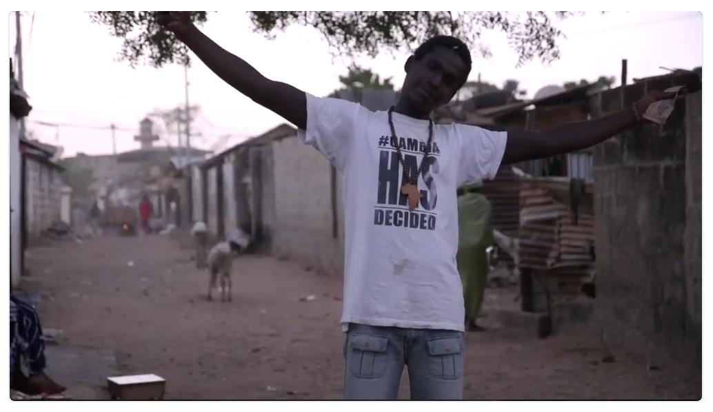 Screen-grab from the documentary #GambiaHasDecided, Bakau ©Jason Florio