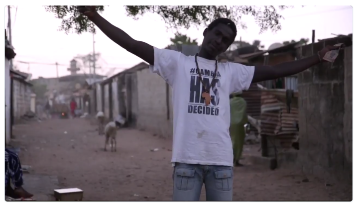 Screen-grab from the documentary #GambiaHasDecided, Bakau ©Jason Florio