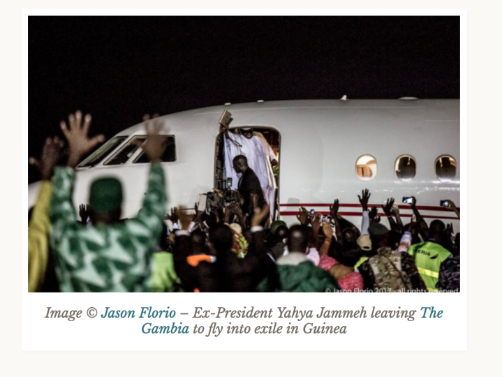 E-Presiden, Yahya Jammeh, leaves the Gambia - 21/1/207 ©Jason Florio