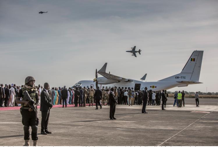 Gambia's new president, Adama Barrow, at Banjul Airport, The Gambia ©Jason Florio