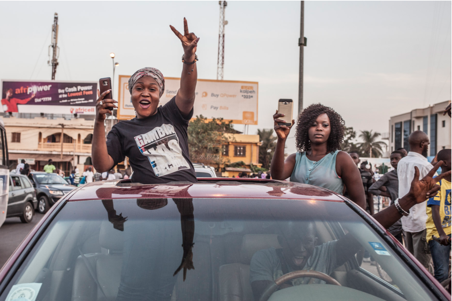 #GambiaHasDecided - supporters of the new President Adama Barrow, The Gambia © Jason Florio