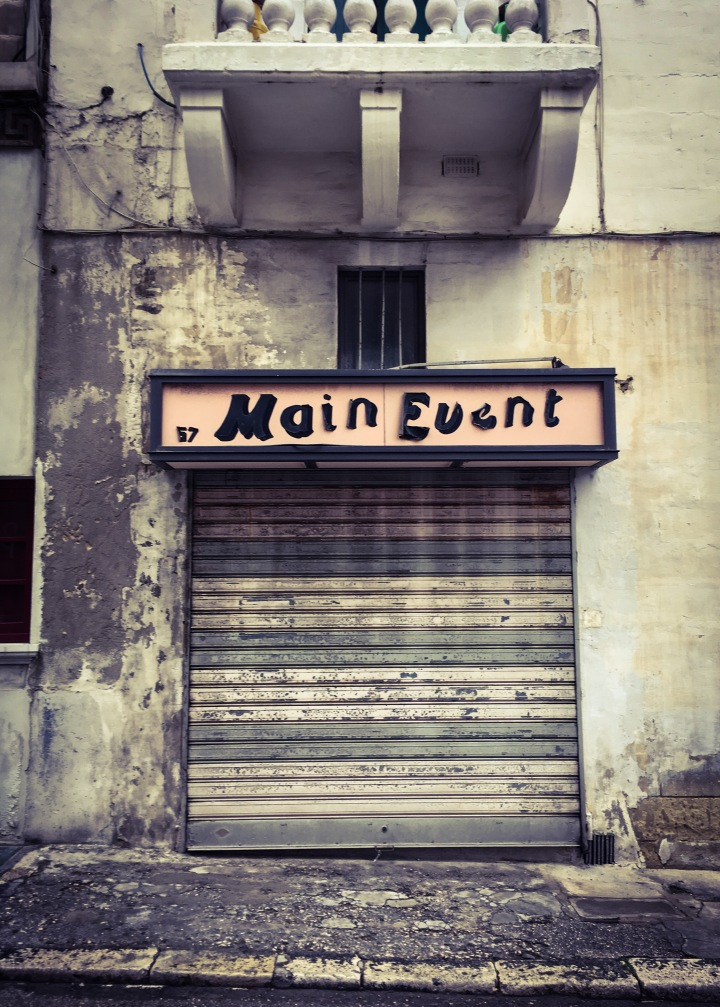 The Main Event - Old store front, Malta © Helen Jones-Florio