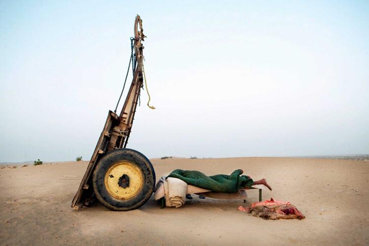 Cameleer sleeping, Rajasthan, India ©Jason Florio