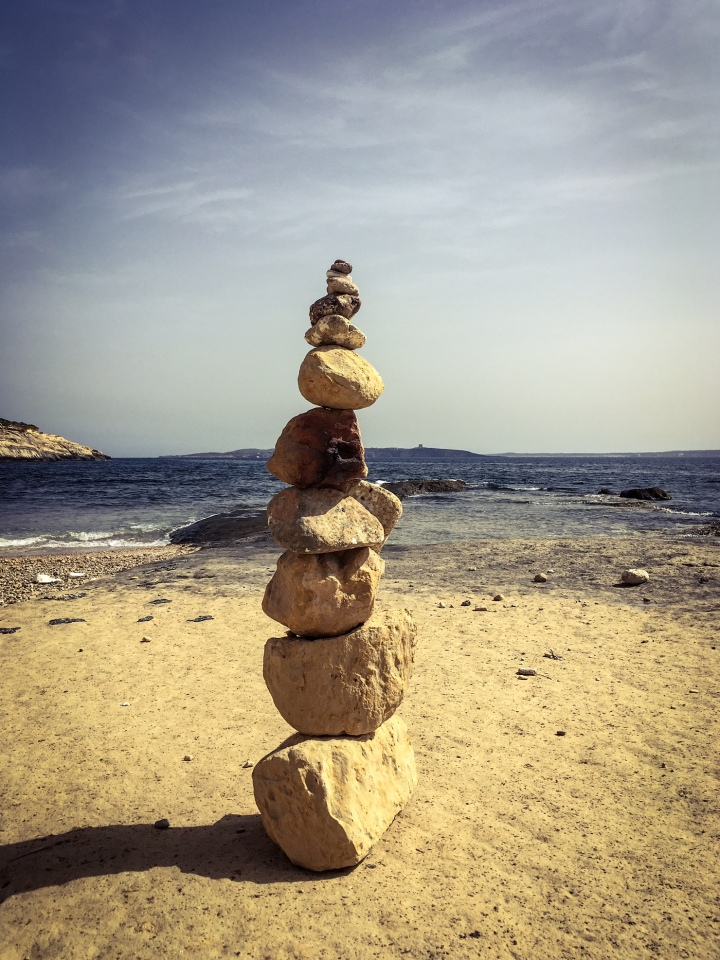 Balanced rocks, Ghajnsielem, Malta ©Helen Jones-Florio