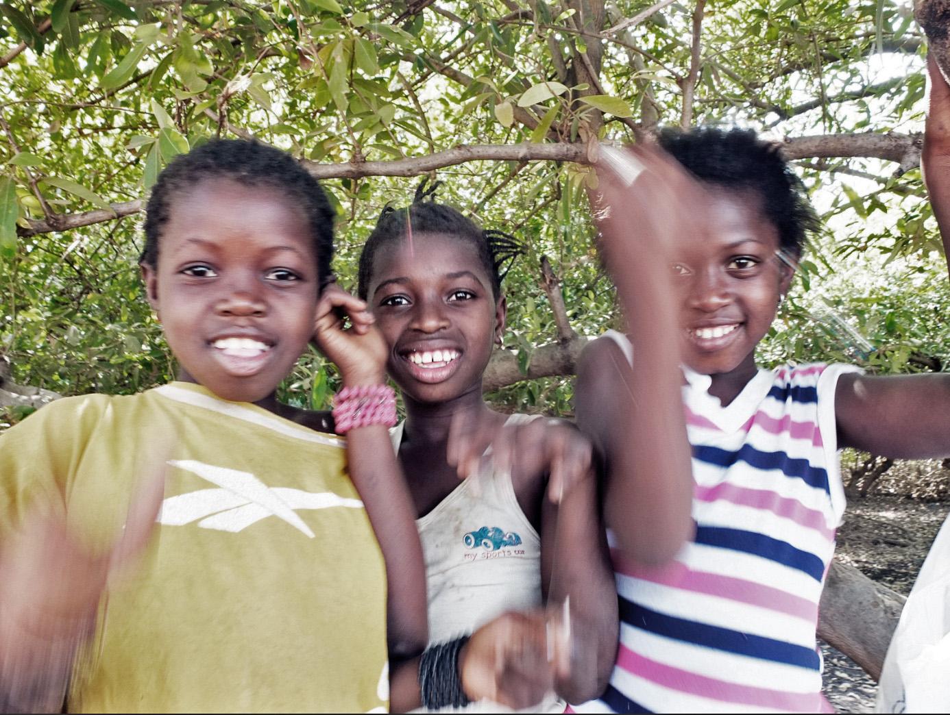 Girls just wanna have fun, Kemoto Point, Gambia © Helen Jones-Florio