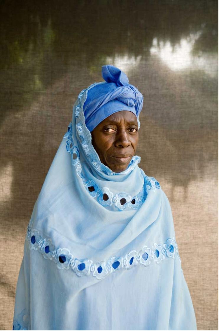 Silafando portraits - Female village chief, Fatou Dansu, of Kabba Kama, Gambia ©Jason Florio