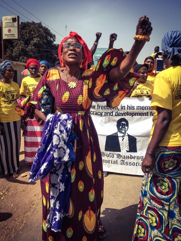 Solo Sandeng Memorial March, The Gambia, West Africa ©Helen Jones-Florio