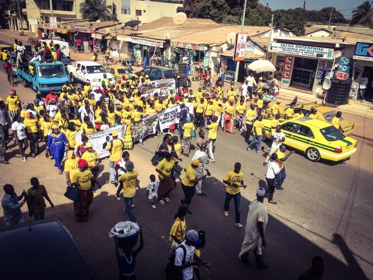 Memorial March for murdered UDP activist, Solo Sandeng, The Gambia © Helen Jones-Florio