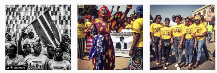 Images from the Memorial March for murdered UDP activist, Solo Sandeng, The Gambia © Helen Jones-Florio & Jason Florio