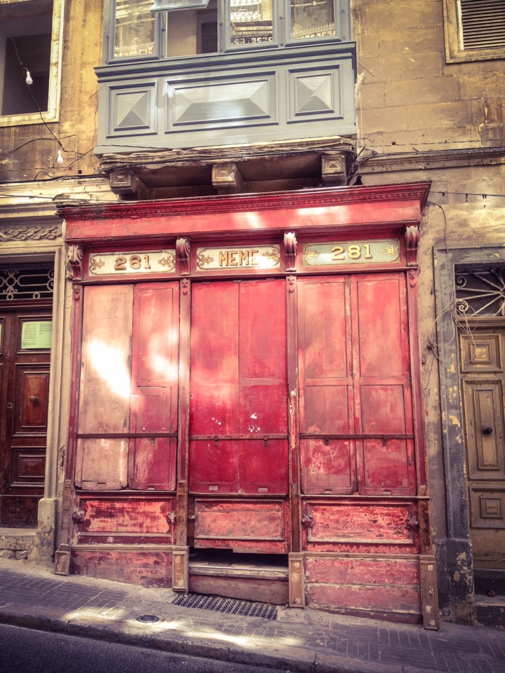 Disappearing Malta Series - 'Meme' vintage shop front, Valletta, Malta ©Helen Jones-Florio