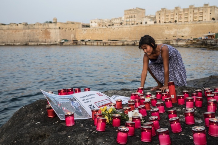 Ports of Hope, a candlelit vigil to honor the lives lost at sea and the need for solidarity, Valletta, Malta, 5th July 2018 ©Jason Florio
