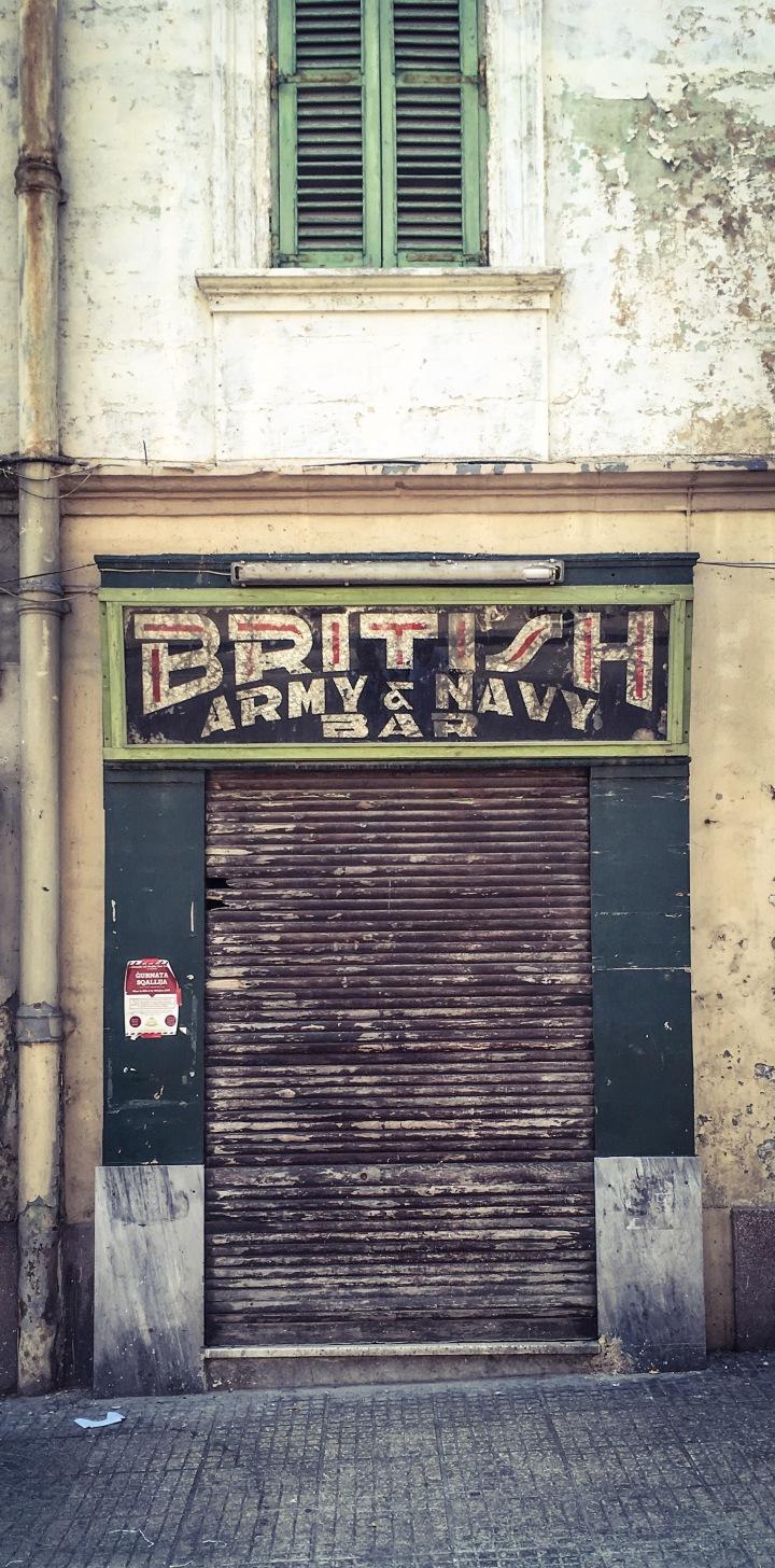 Closed down - British Army & Navy Bar, Triq il-Kbira San Gizelle, Hamrun ©Helen Jones-Florio
